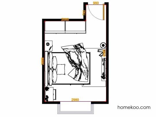 平面布置图贝斯特系列卧房A12549