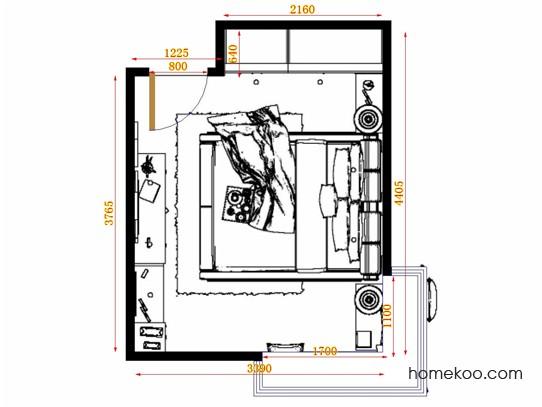 平面布置图贝斯特系列卧房A12554