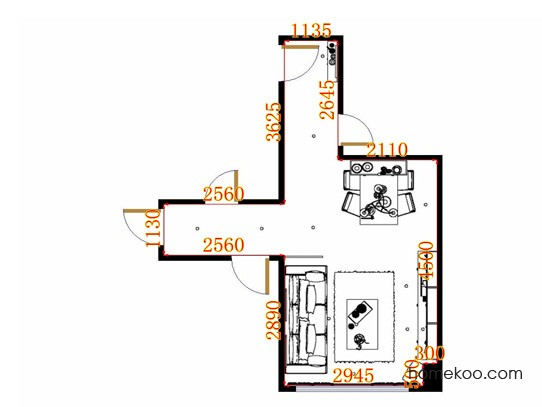 平面布置图柏俪兹系列客餐厅G11368