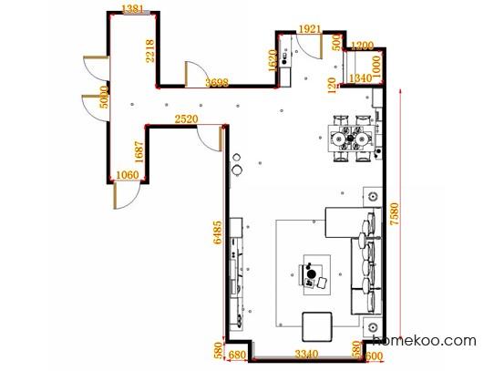 平面布置图柏俪兹系列客餐厅G11372