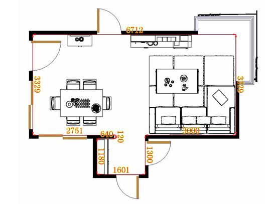 平面布置图贝斯特系列客餐厅G11383