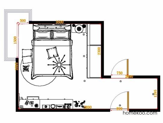 平面布置图德丽卡系列卧房A12657