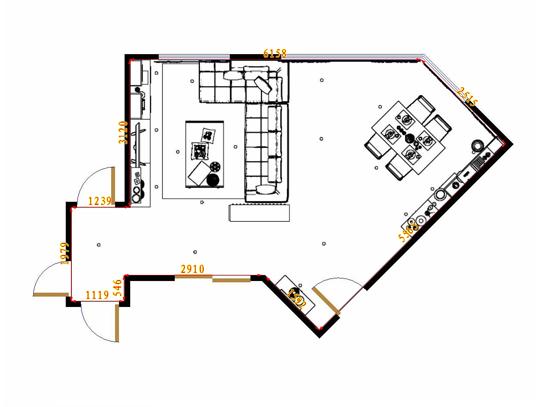 平面布置图乐维斯系列客餐厅G11384