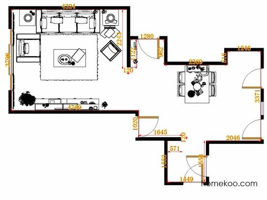 平面布置图柏俪兹系列客餐厅G11393