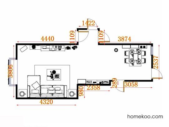 平面布置图乐维斯系列客餐厅G11394