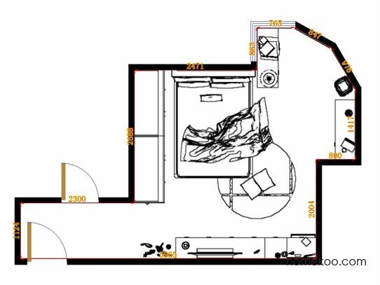 平面布置图斯玛特系列卧房A12675