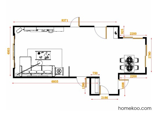 平面布置图贝斯特系列客餐厅G11397