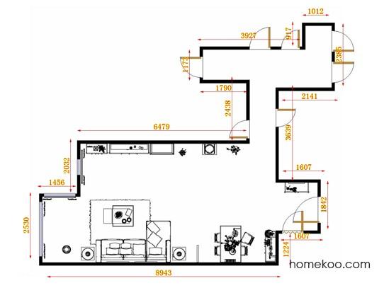 平面布置图德丽卡系列客餐厅G11420