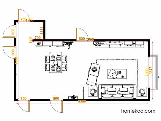 平面布置图柏俪兹系列客餐厅G11423
