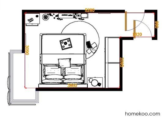 平面布置图柏俪兹系列卧房A12694