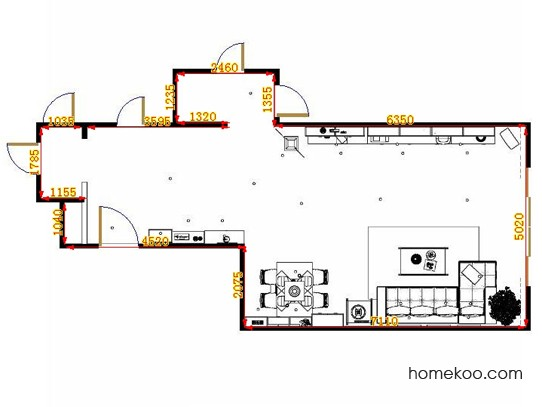 平面布置图斯玛特系列客餐厅G11460