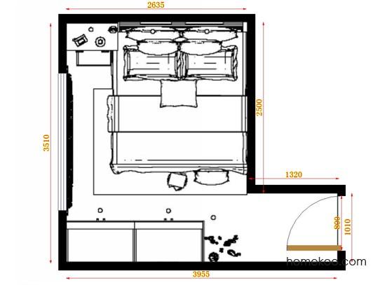 平面布置图乐维斯系列卧房A12716