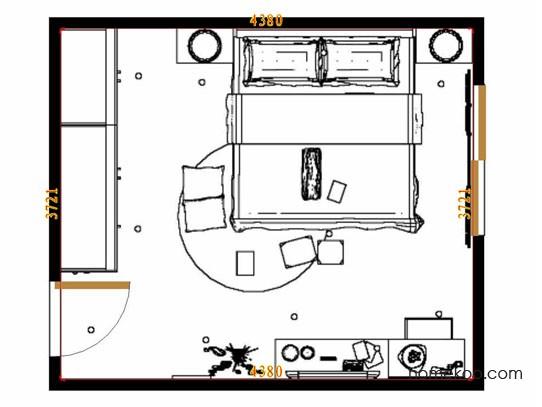 平面布置图柏俪兹系列卧房A12721