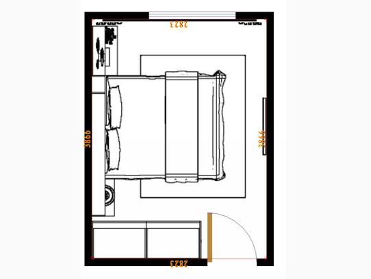 平面布置图米兰剪影卧房A15308