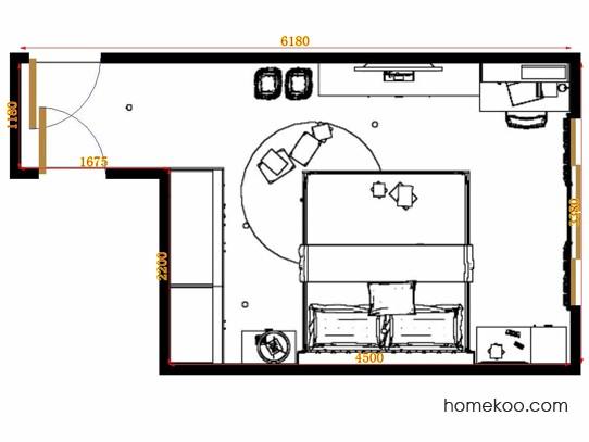 平面布置图德丽卡系列卧房A12730