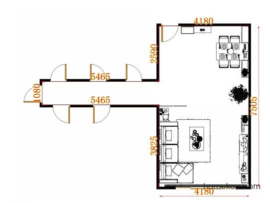 平面布置图格瑞丝系列客餐厅G11469