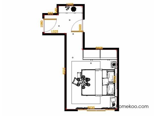 平面布置图乐维斯系列卧房A12744