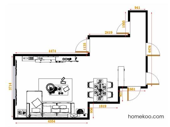 平面布置图斯玛特系列客餐厅G11473