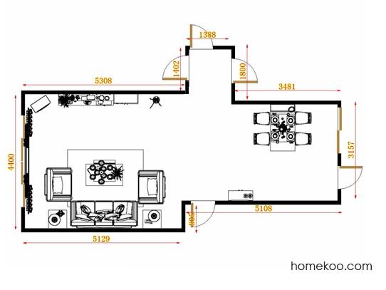 平面布置图柏俪兹系列客餐厅G11478