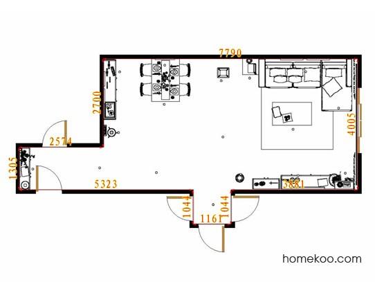 平面布置图贝斯特系列客餐厅G11512