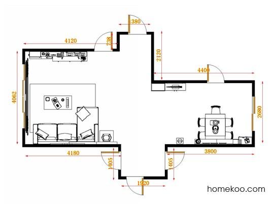 平面布置图贝斯特系列客餐厅G11545