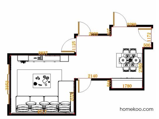 平面布置图格瑞丝系列客餐厅G11587