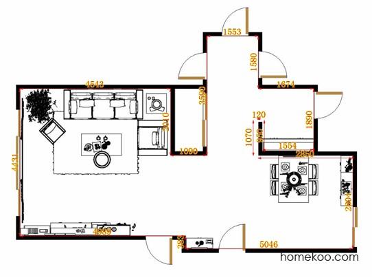 平面布置图贝斯特系列客餐厅G11610