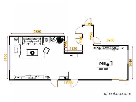 平面布置图斯玛特系列客餐厅G11617