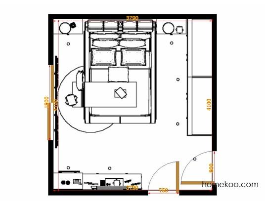 平面布置图乐维斯系列卧房A12826