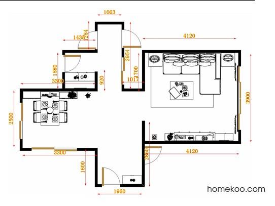 平面布置图乐维斯系列客餐厅G11657