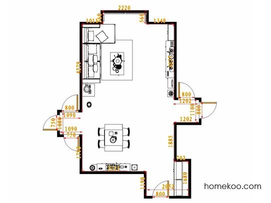 平面布置图斯玛特系列客餐厅G11663