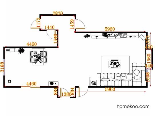 平面布置图乐维斯系列客餐厅G11676
