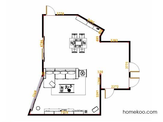 平面布置图斯玛特系列客餐厅G12785
