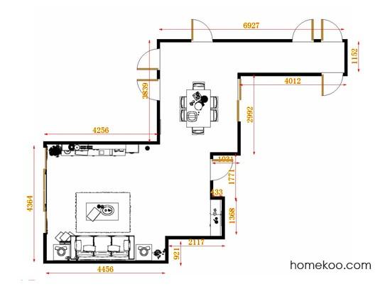 平面布置图贝斯特系列客餐厅G12787