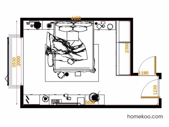 平面布置图斯玛特系列卧房A12868