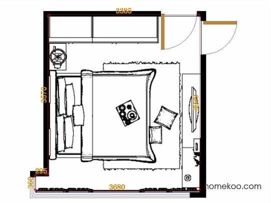 平面布置图德丽卡系列卧房A12869