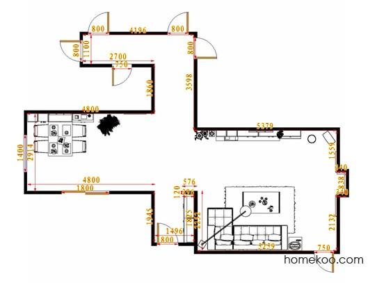 平面布置图乐维斯系列客餐厅G12799