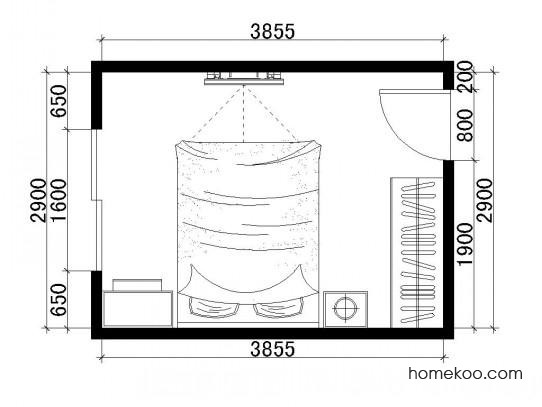 平面布置图格瑞丝系列卧房A1532