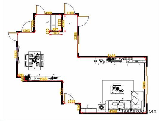 平面布置图德丽卡系列客餐厅G12821