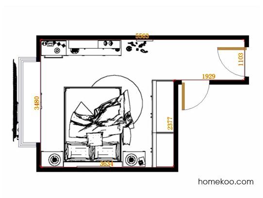 平面布置图乐维斯系列卧房A12883