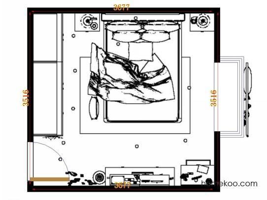 平面布置图贝斯特系列卧房A12884
