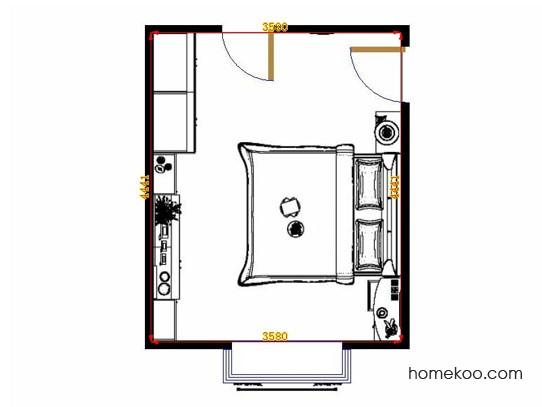 平面布置图斯玛特系列卧房A12886