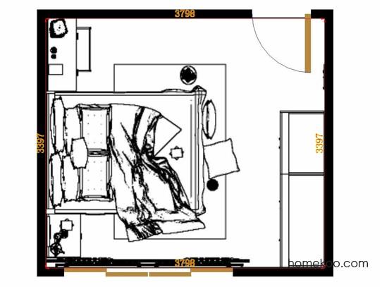 平面布置图柏俪兹系列卧房A12889