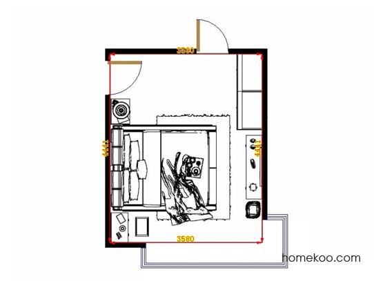 平面布置图德丽卡系列卧房A12896