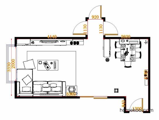 平面布置图斯玛特系列客餐厅G12872