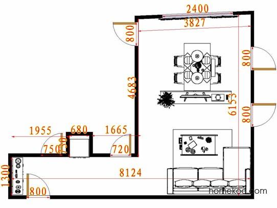平面布置图斯玛特系列客餐厅G12891