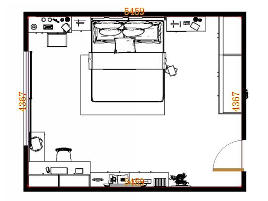 平面布置图柏俪兹系列卧房A12910