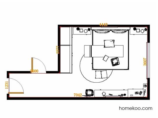 平面布置图柏俪兹系列卧房A12911