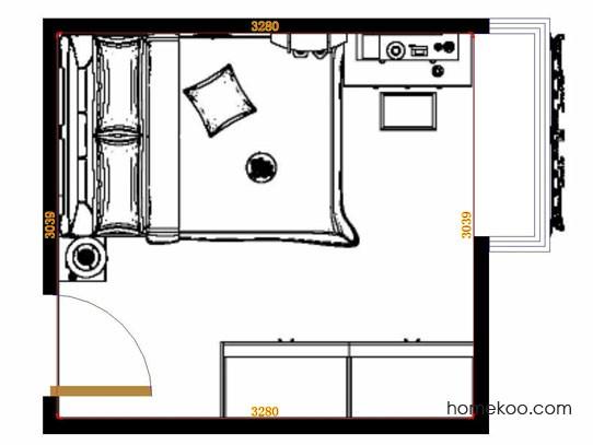 平面布置图柏俪兹系列卧房A12920
