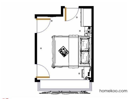 平面布置图德丽卡系列卧房A12922